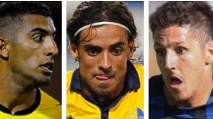 Da destra, Maxi Oliveira (alla Fiorentina), Granoche (allo Spezia), Jovetic