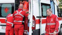 L'ambulanza giunta sul posto (foto di repertorio)