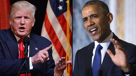 Donald Trump e Barack Obama (combo)