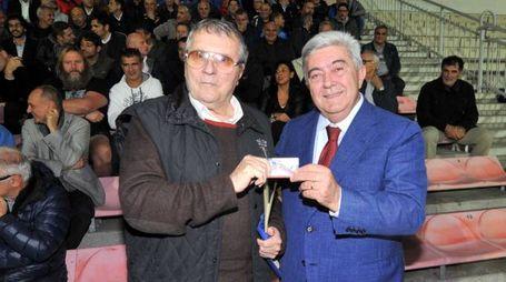 Milto Baratella con il presidente della Rugby Rovigo Delta, Francesco Zambelli