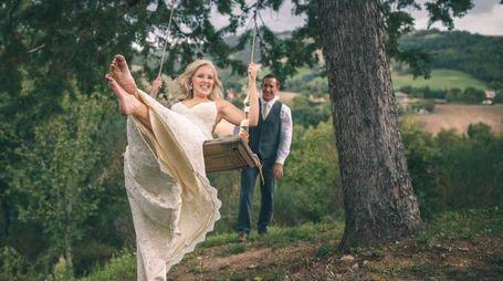 Ruston Webb e Bonnie Webb sposi a Pergola
