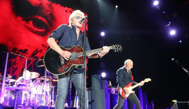The Who in concerto all'Unipol Arena di  Casalecchio di Reno (Bologna). Foto Ansa