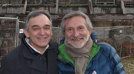 Enrico Rossi (a sinistra) con Giuseppe Bellandi