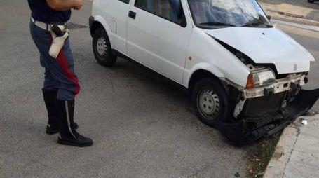 Una delle auto coinvolte (foto Vives)