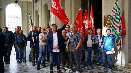 Il presidio dei lavoratori dell'Abc (Frascatore)