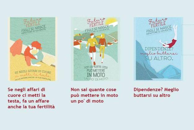 Le varie sezioni della campagna sul sito del ministero
