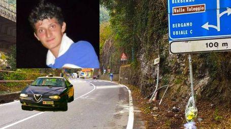 Daniele Ghisalberti e il luogo dell'incidente