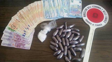 La droga trovata dalla Finanza