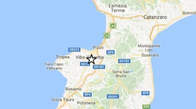 Scossa di terremoto nel Vibonese (da sito ingv)