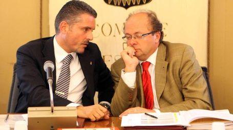 Il sindaco Paolo Lucchi e l'assessore al Bilancio Carlo Battistini