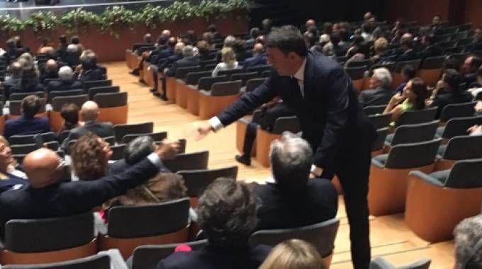 Blitz del premier Renzi all'iniziativa per i 300 anni del Chianti Classico