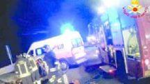 I soccorsi sul luogo dell'incidente (Foto: Vigili del fuoco)
