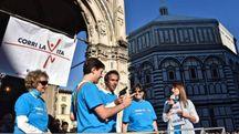 Sousa dà il via a Corri la vita (Foto Ansa)
