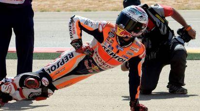 MotoGp, l'esultanza di Marc Marquez (Afp)