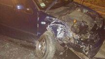 L'auto incidentata sulla Cervese