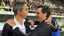Paulo Sousa e Vincenzo Montella (foto Germogli)