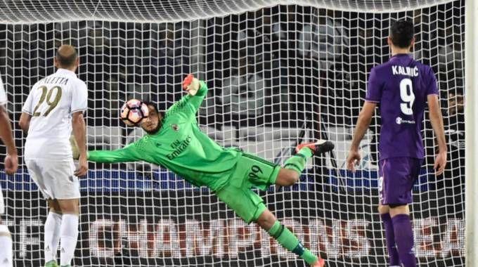 Donnarumma vola: ennesima buona partita del portierino del Milan