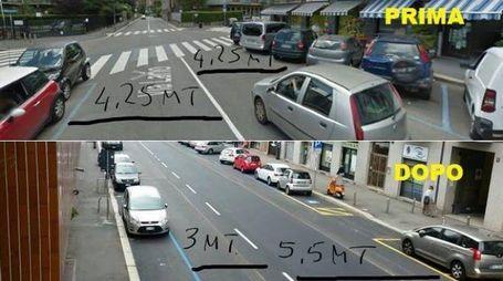 Confronto fotografico: come è stata trasformata (in peggio) la strada