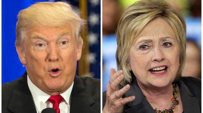 Donald Trump e Hillary Clinton (Ansa)