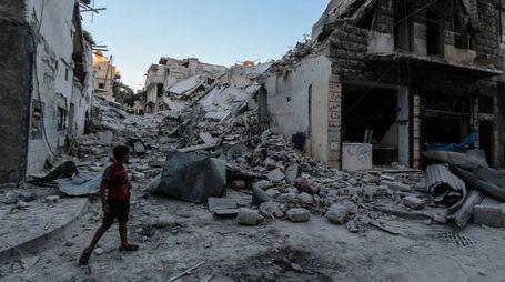 Siria, la distruzione di Aleppo (Olycom)