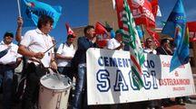 La protesta di venerdì in Regione (foto Antic)