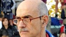 Il professor Daniele Casamenti, 63enne, sulla pista di atletica  che per lui era come una seconda casa