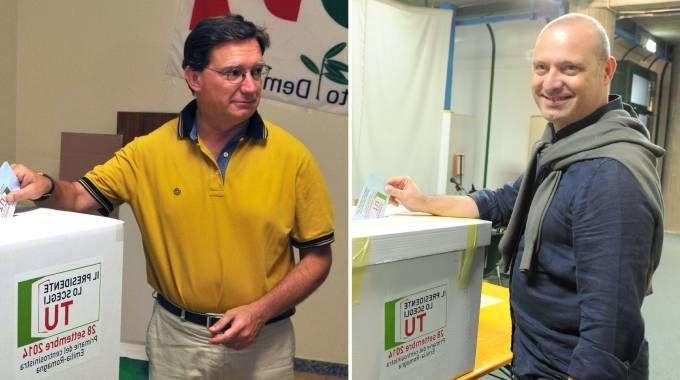 Balzani e Bonaccini ai seggi