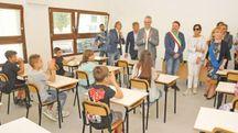 L'inaugurazione della scuola antisismica di Acquasanta Terme (Foto Dire)