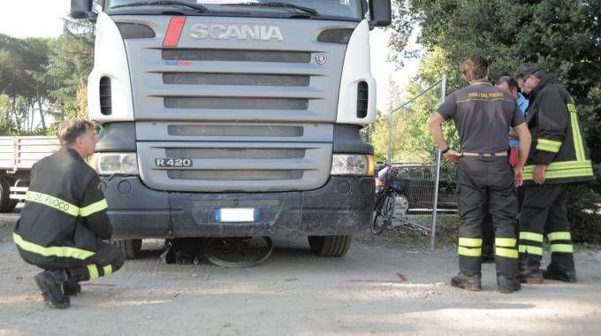 L'incidente all'ex Campo Balilla (foto Alcide)