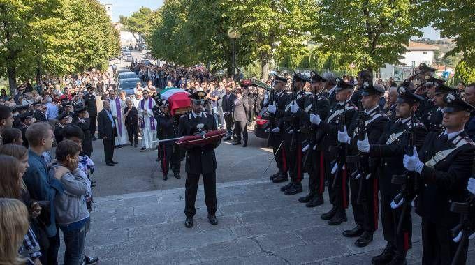 Tavullia,i funerali del carabiniere Di Noia (Fotoprint)
