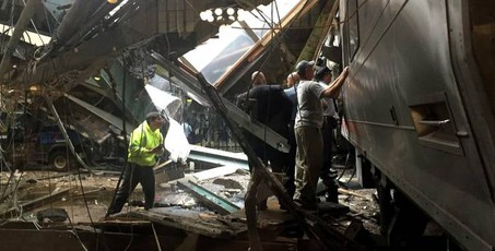 Incidente ferroviario New Jersey (Afp)
