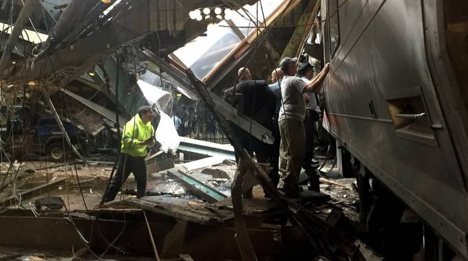 Incidente ferroviario New Jersey (Afp)