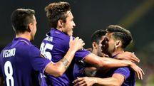 La Fiorentina esulta dopo la vittoria in Europa League (AFP)