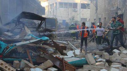 Attacco aereo in Siria (LaPresse)