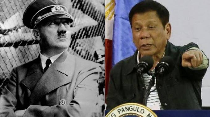Adolf Hitler e Rodrigo Duterte