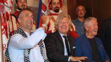 """Batistuta, Antognoni e Roggi alla presentazione della """"Partita Mundial"""" (Germogli)"""