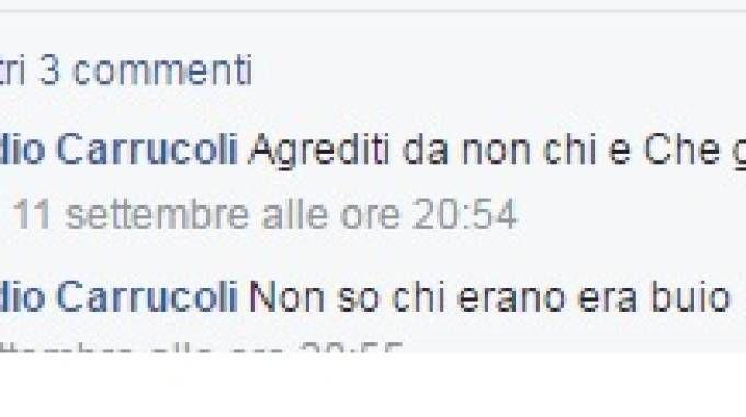 I commenti di Claudio Carrucoli all'aggressione