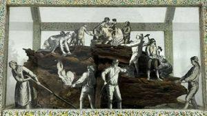 Una delle opere esposte a Casa Raffaello
