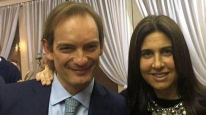 Matteo Cagnoni con la moglie Giulia Ballestri (Ansa)
