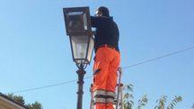 Sostituzione delle lampadine con illuminazione a led in via Garibaldi