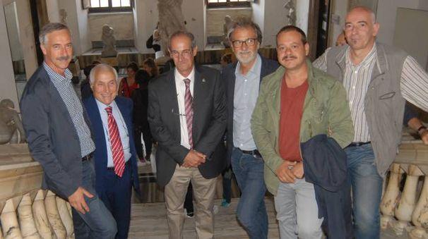 Da sinistra Cremoni, Casani, Balocchi, Massari, Sciortino, Tinarelli