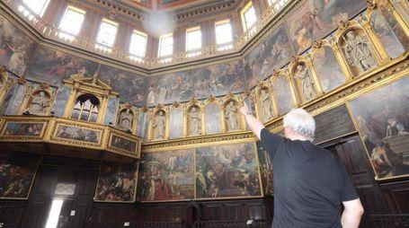 Gli affreschi del Tempio della Rotonda (foto Donzelli)