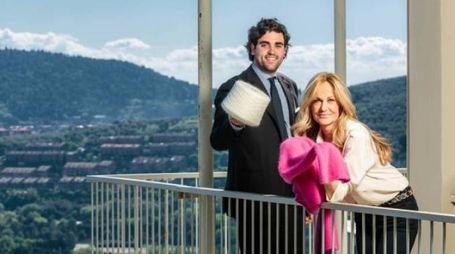 Nicoletta Spagnoli con il figlio Nicola