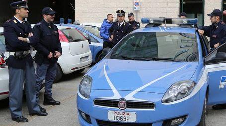 IN AZIONE La polizia ha arrestato i due romeni