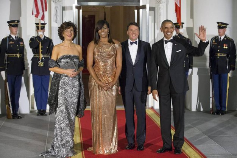 Festa alla Casa Bianca. Cena in onore di Renzi e signora. (video)