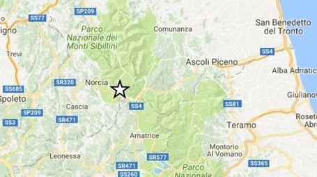 Terremoto, la scossa del 20 ottobre tra Marche, Umbria e Lazio (Foto Ingv)