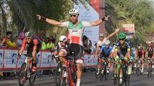 Settimo successo stagionale per Giacomo Nizzolo (foto Abu Dhabi Tour)