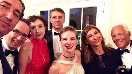 Bebe Vio con Sorrentino, Benigni, Nicoletta Braschi, Cantone, Giusi Nicolini e Armani