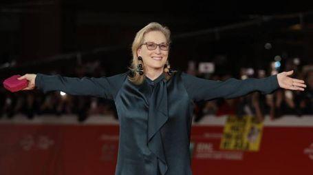 Meryl Streep al festival del cinema di Roma (Ansa)