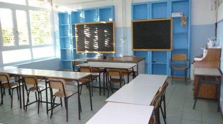 Un'aula della scuola Mameli di Foligno